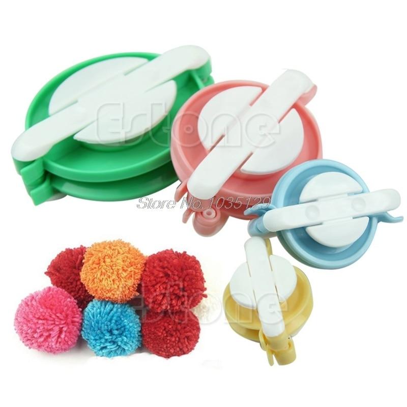 Pompon Set Appareil Bommel Pom Pom Maker Clover Fluff Ball Weaver Needle Craft Knitting Tool DIY needlework Set home supplies