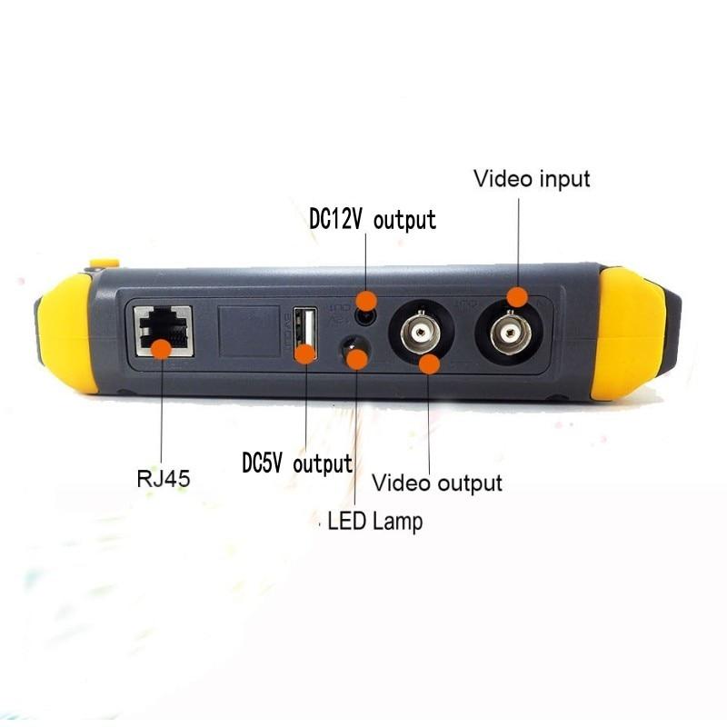 Professional CCTV Tester IV8W 5 Inch TFT LCD 5MP AHD TVI 4MP CVI Analog CVBS Security Camera Tester VGA HDMI Input PTZ UTP enlarge