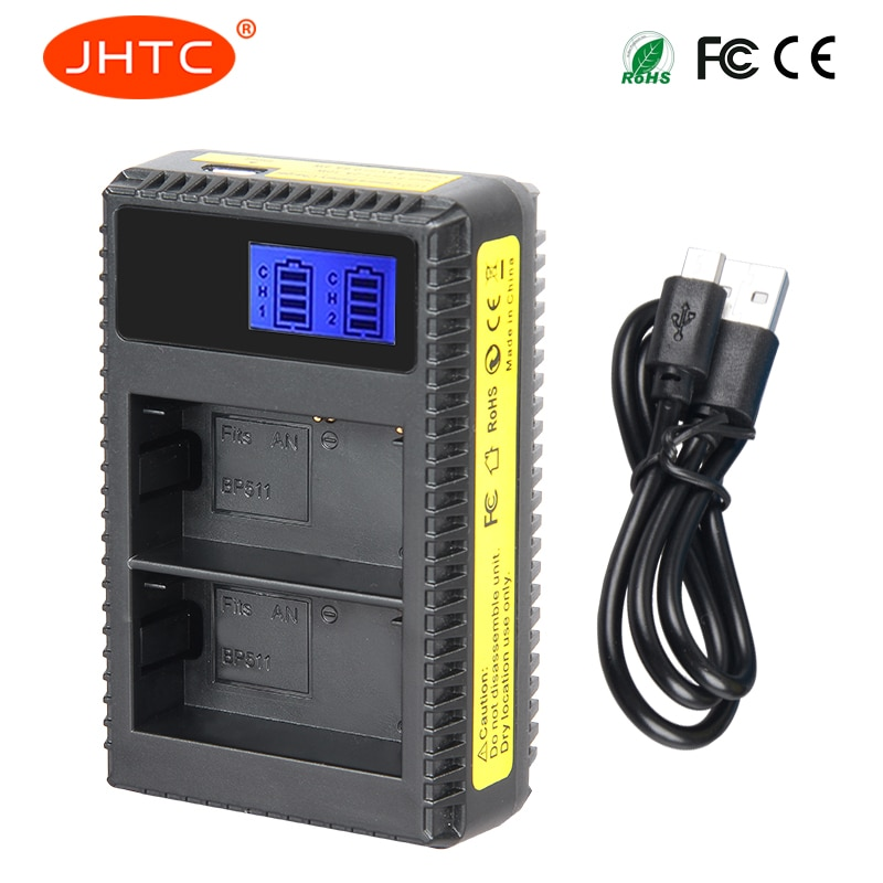 JHTC зарядное устройство BP-511 BP-511A BP 511 BP511 зарядное устройство для Canon EOS 300D 10D 20D 30D D30 40D 50D зарядное устройство