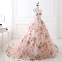best selling long evening dresses with lace appliques printed floral formal prom party dress for women robe de soiree real photo