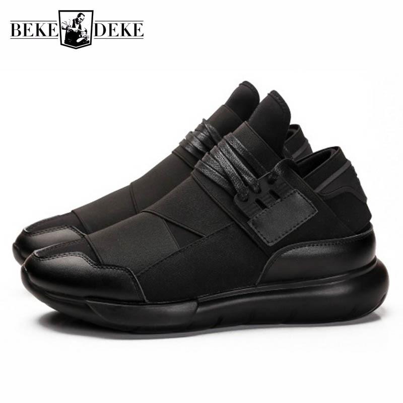 أحذية رياضية من الجلد الطبيعي للرجال ، أحذية رياضية بنعل سميك ، قابلة للتنفس ، عصرية ، لفصل الربيع