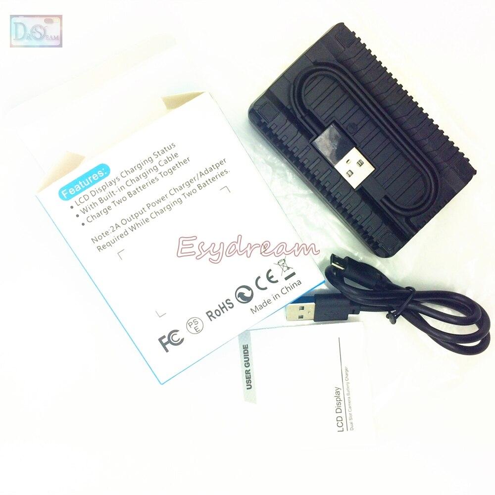 LP-E8 LP E8 LPE8 LCD USB Dual Charger + USB Cable for Canon EOS 550D 600D 650D 700D T2i T3i T4i T5i X4 X5 X6i X7i Replace LC-E8C