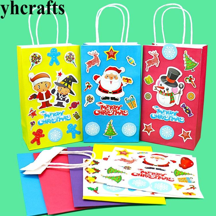 4 шт./лот, DIY рождественская Сумочка, Создайте свой собственный, Goody мешок, Ранние развивающие игрушки. Сумка для детского сада. DIY игрушки. Опт...