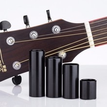 28/50/60/70mm Stainless Steel Black Guitar String Finger Slide Slider for Acoustic Electric Guitar Parts & Accessory