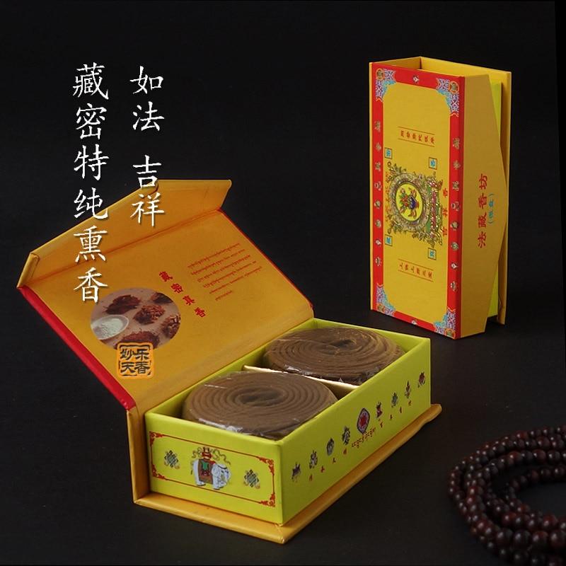 Espiral de incienso Tibetano para sala de estar, hierbas tibetanas, medicina de...