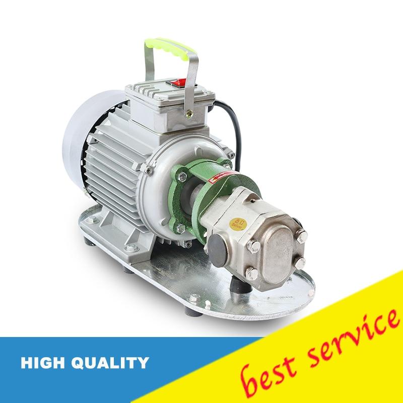 Wcb-50 50 l/min 220v 50hz Acero inoxidable AC eléctrico combustible Micro engranaje bomba de aceite