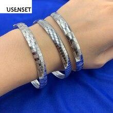 Joyería de encanto de acero inoxidable pulseras mujeres gargantilla color plata Collar de pulsera de cadena de serpiente