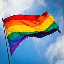 Rectangle Rainbow Flag Large Polyester Lesbian Gay Pride Symbol LGBT Flag