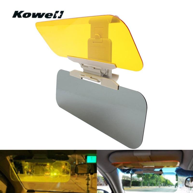 Universal ajustable antideslumbrante azzle Doble espejo día Luz de visión nocturna escudo gafas de conducción espejo sol Visor