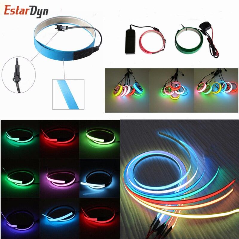 Новинка 1 м Светодиодная гибкая неоновая светящаяся лента EL лента стробинг электролюминесцентный ленточный кабель водонепроницаемая светодиодная лента