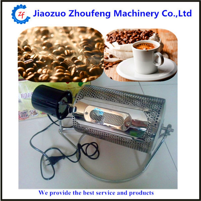 Small home use stainless steel drum coffee roaster  ZF