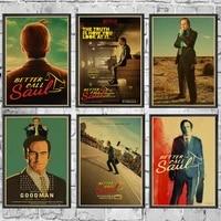 Affiche TV americaine best Call Saul  Stickers muraux Vintage  imprimes de haute qualite pour decoration de Bar et de maison