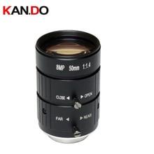 "8MP CCTV Camera Lens 50mm 8.0Megalpixel C CS Mount Manual Iris Focus F1.8 Aperture 1"" Format Security Camera Industrial Lens"