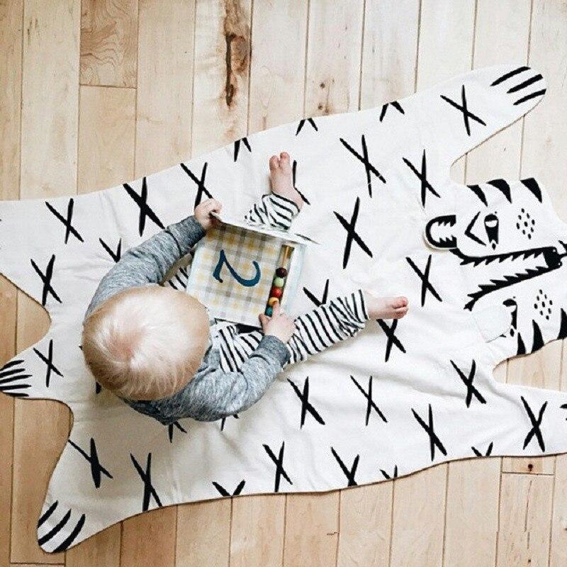 Los animales patrón de tigre bebé acolchado juego alfombrillas para gatear manta de alfombra nórdico niños habitación foto de decoración Prop