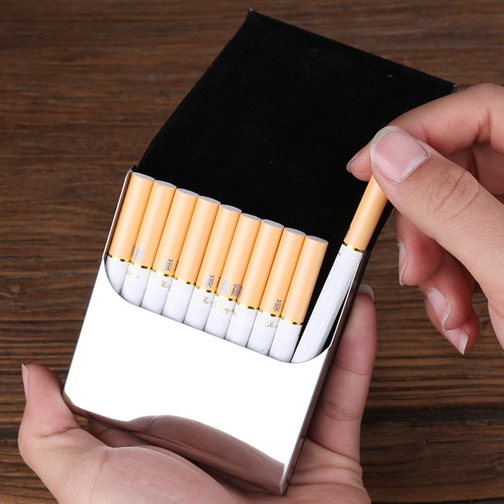 2020 gran oferta de calidad Superior bolsillo negro para hombres tabaco cigarrillo soporte para almacenar tarjetas organizador, caja, contenedor