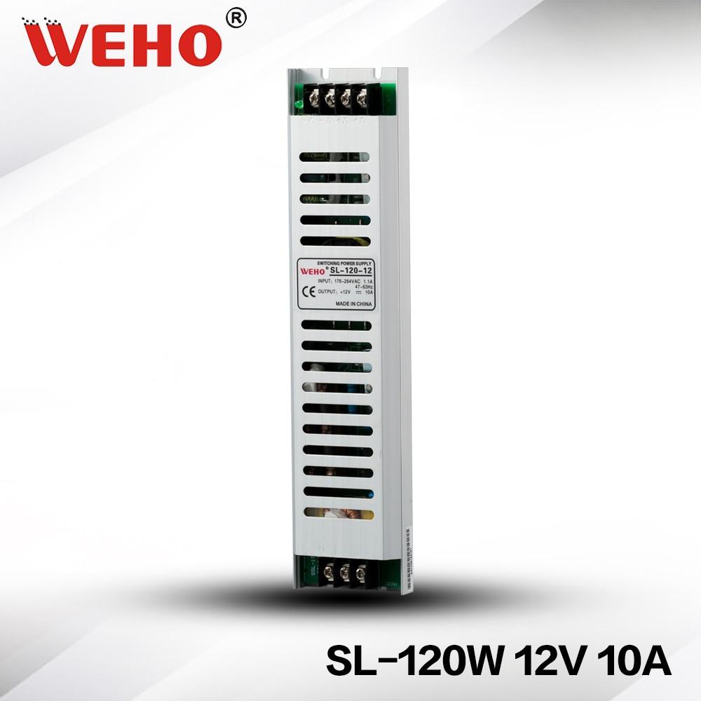 (SL-120-12) transformador SMPS 220V 12V 120W 10A voltaje constante interruptor de salida única AC-DC controlador de fuente de alimentación para tiras LED