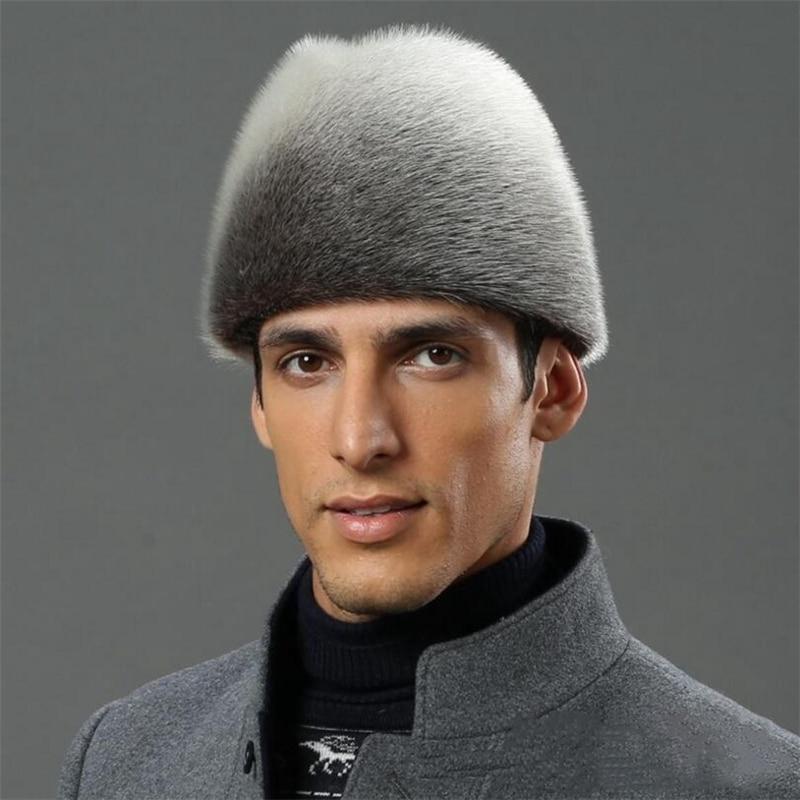 IANLAN Deluxe Men Full-pelt Sea-Lion Furskin President Cap Real Sea-Lion Fur Fedora Hats Winter Outdoor Gentleman's Hat IL00240