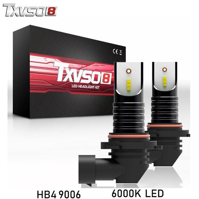 TXVSO8 2 piezas hb4 led 9006 de la bombilla del faro CSP Chips-12V 30000LM 6000 K 55 W led auto bombillas coche faro delantero, la lámpara de la niebla