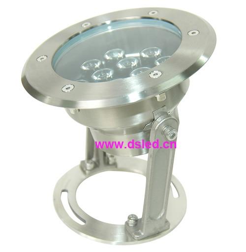 good quality,high power IP68,12W underwater LED spotlight,LED pool light,12V DC,DS-10-27-12W,12X1W,stainless steel