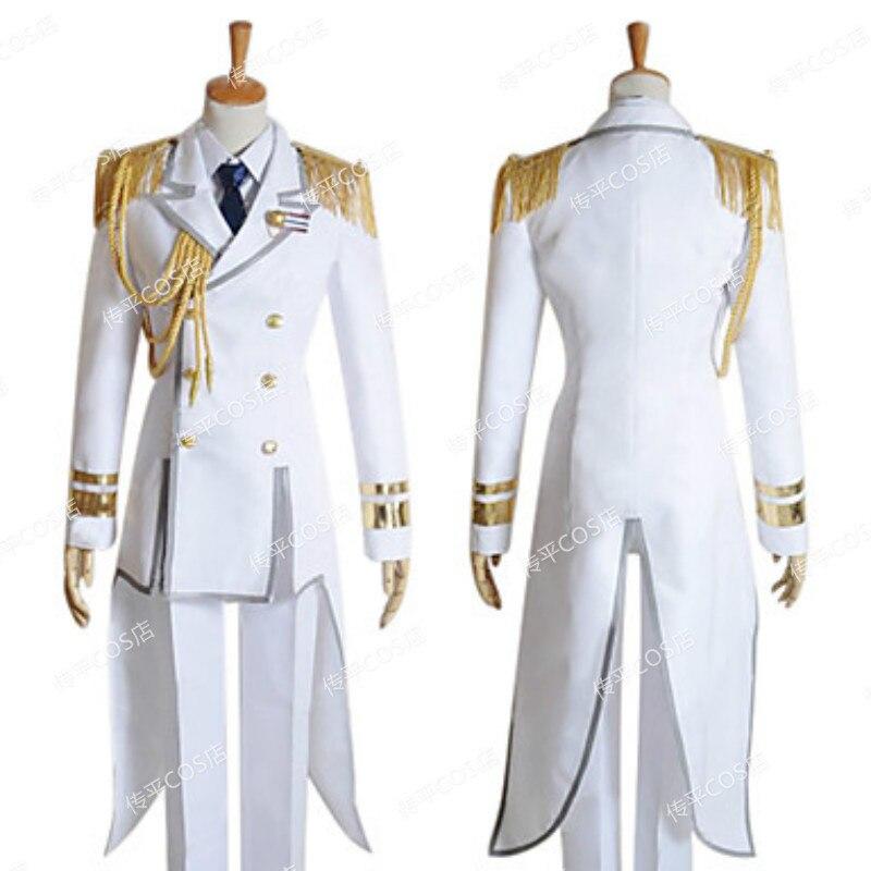 Uta no Prince-sama avión capitán uniformes Cosplay traje completo personalizado cualquier tamaño