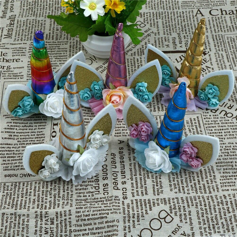 Decoración de boda bebé ducha cumpleaños fiesta suministros pastel hornear fiesta decoración unicornio caballo Cupcake Topper