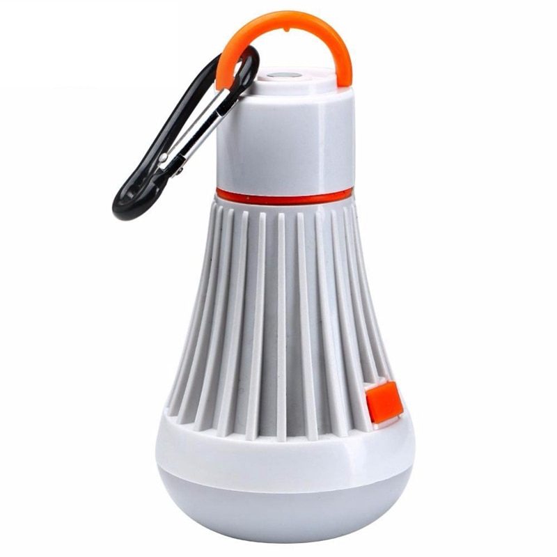 Linterna portátil para tienda de campaña, 6 Led + 3W, linterna tipo linterna, lámpara de 4 modos con batería Aaa o 18650
