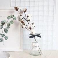 Fleurs en coton sechees naturelles  10 lot  tiges en coton artificielles  branches florales  pour decorer une fete de mariage  pour decorer la maison