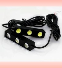 2pcs Waterproof 3W Mini 3 LED Eagle Eye Lights Daytime Running Lamp Fog Light Driving Light Rogue Reversing Lamps DRL