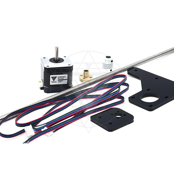 TEVO Dual Z Axis Upgrade Kit Nema 42 step motor & T8*2 lead screw 375 mm with brass nut for Tarantula 3D printer part