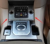 for land rover discovery 4 lr4 black wood chrome gear shift panel cover trim sticker newest