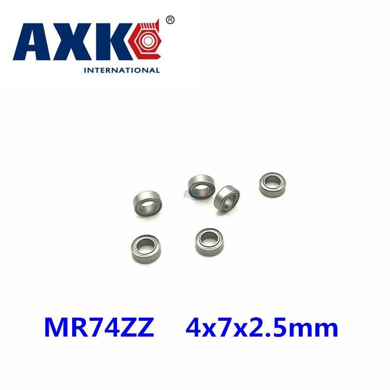 Envío gratis 10 Uds minirodamiento MR74ZZ L-740ZZ 4x7x2,5mm rodamientos P5 MR74 ZZ 4*7*2,5 Los rodamientos de bolas de ranura profunda