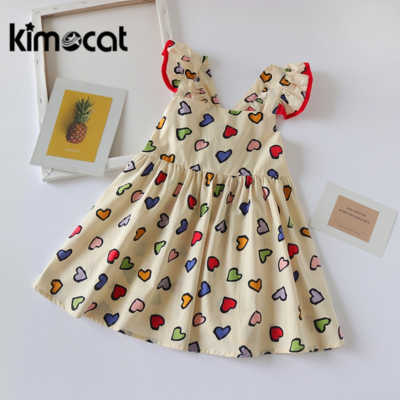 Kimocat para Bebé Ropa de niña Vestido sin mangas de princesa de verano Rosa bonitos vestidos infantiles para niñas Vestido Infantil Vestido de fiesta para niña