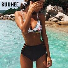 RUUHEE Bikini 2019 Maillot De Bain maillots De Bain femmes taille haute Bikinis ensemble Push Up Maillot De Bain femmes vêtements De plage Maillot De Bain Femme