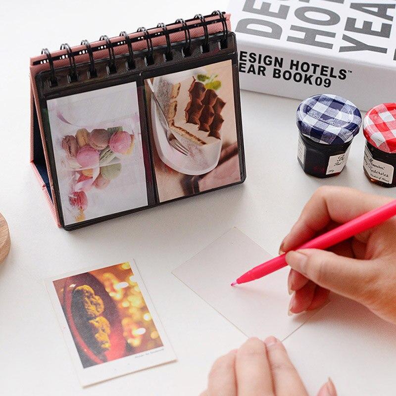 HAZY, 68 bolsillos, 3 pulgadas, álbum de fotos de escritorio, álbum de calendario para Fuji Instant Mini 8 9 70, película Polaroid Z2300 PIC-300P