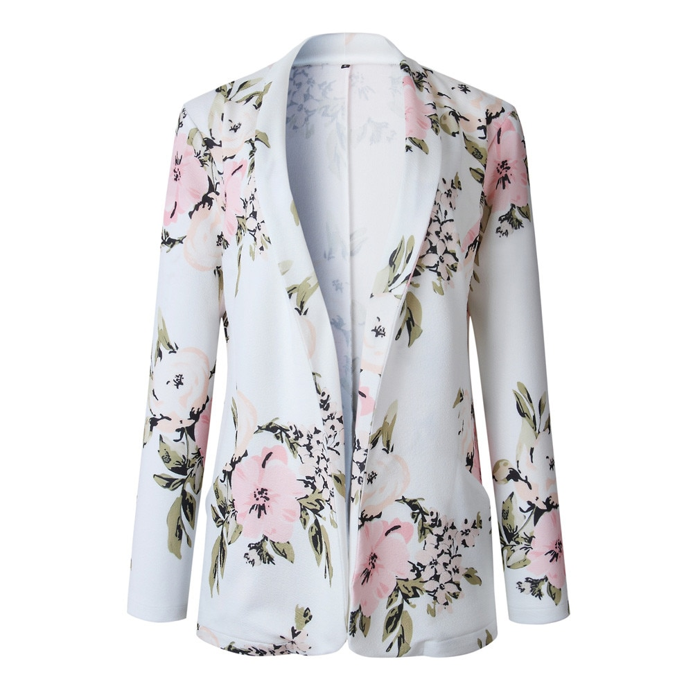 Chaqueta Retro Floral con cremallera para Mujer, Abrigo informal, prendas de vestir...