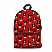 Sac à dos scolaire personnalisé pour enfants Boston Terrier impression sac à dos cartable cartable enfants sac pour adolescentes étudiants