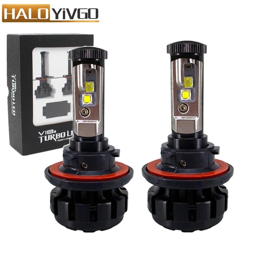 Car LED Headlight H13 9008 Hi/Lo Beam Bulb 80W XHP50 Chips 6000K Conversion Kit Automobile Headlamp Bulbs Fog Lights 12V