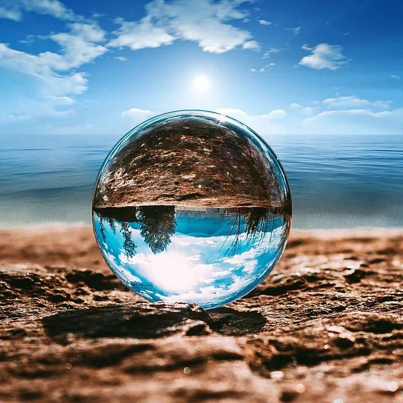 Bola de cristal de cuarzo asiático de 50mm, bolas de cristal curativas mágicas de Feng shui, productos de estatuillas de piedras preciosas para decoración de esferas