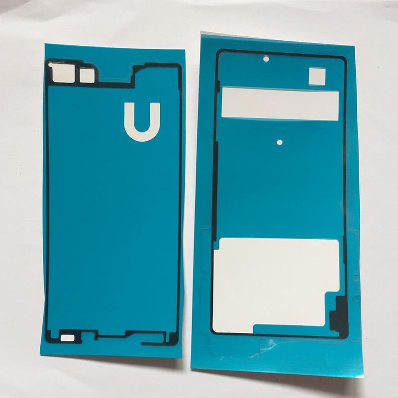 Высокое качество Передняя + Задняя клейкая лента наклейка для Sony Xperia Z3 + Z4 E6553 E6533 LCD Корпус рамка Задняя крышка батареи