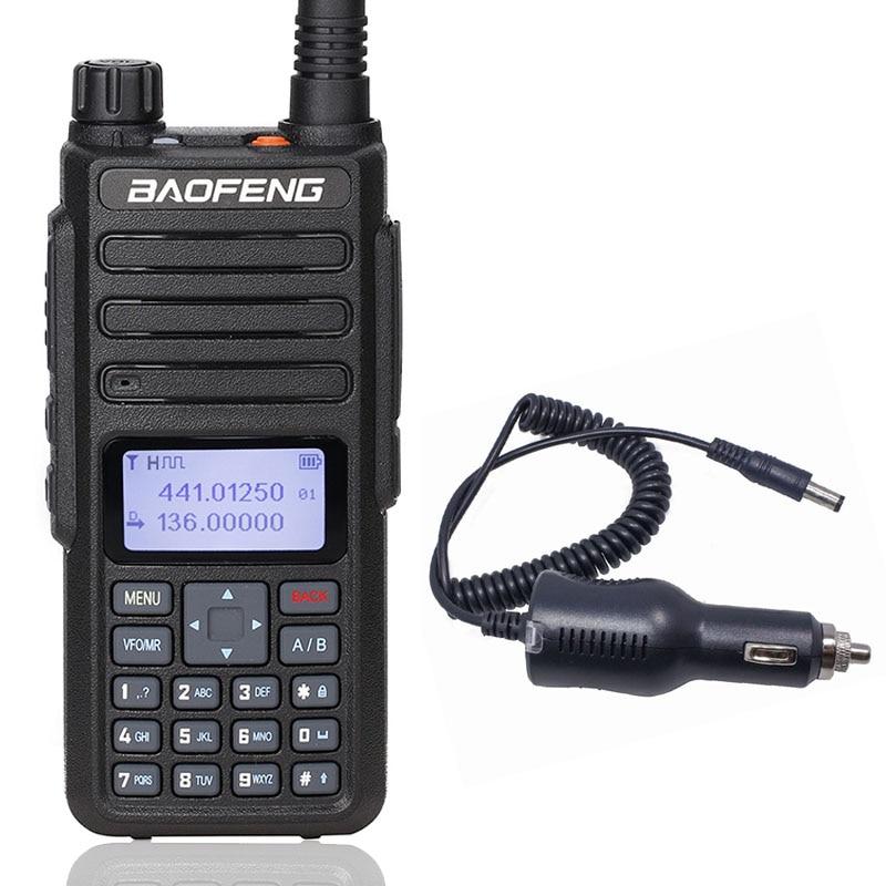 Baofeng Walkie Talkie Digital de DM 860 Tier1 & 2 slot II 10KM Repetidor de Longo alcance Radioamador Compatível Com Motorola DMR + Carregador de Carro Walkie-talkie    -