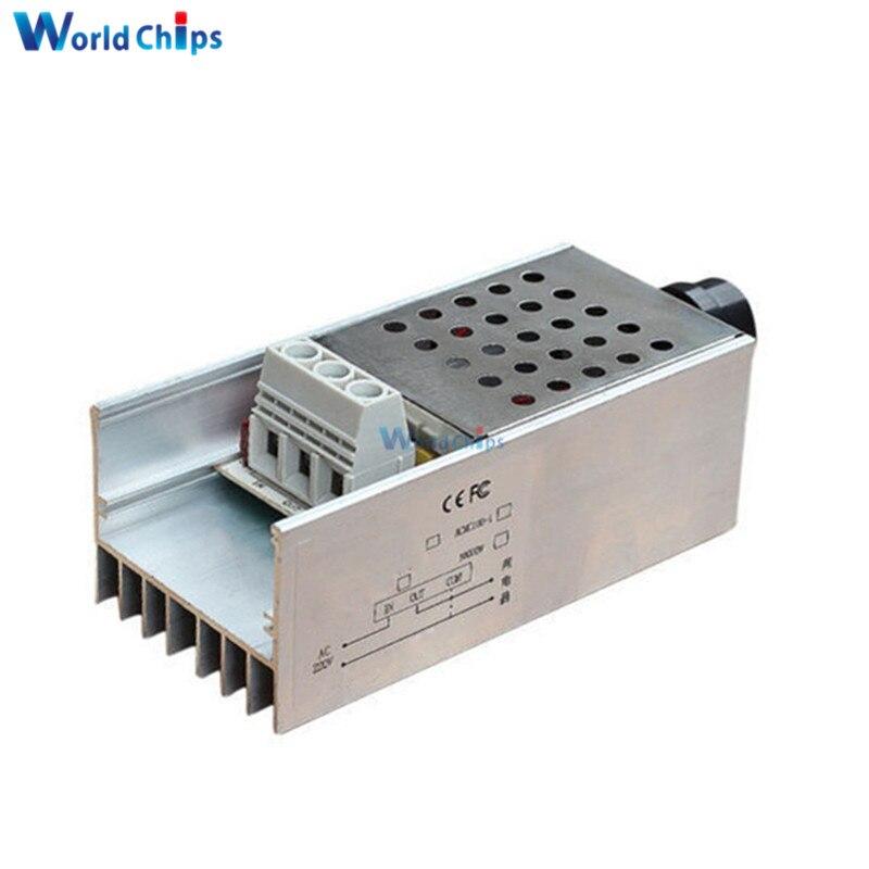 Диммер 220V 10V 10000 W высокой мощности SCR электронная регулировка регулятора напряжения регулятор скорости двигателя диммер термостат