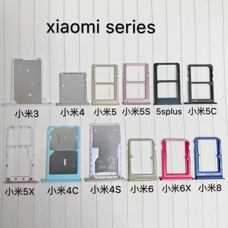 Redmi 3/4/5/5s/5c/5splus/5x/4c/4s/6/6x/8 Dual SIM SD/TF Card Adapter Holder Reader Slot Tray Smartphone PCB board Repair Part