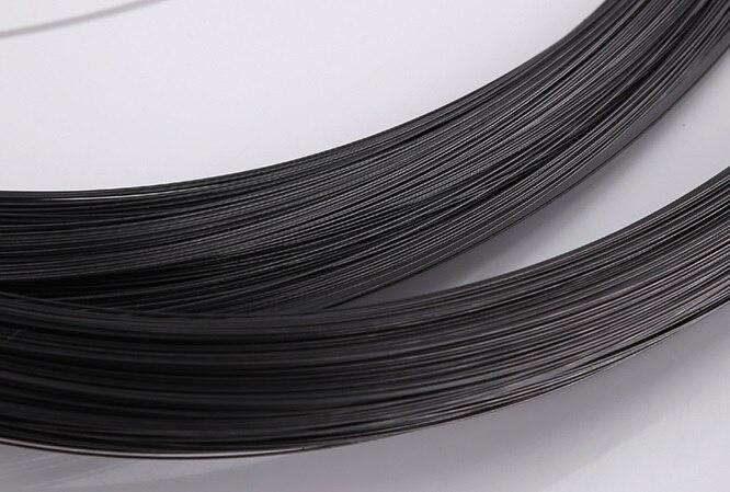 0,15-0,7 MM, 30 M, cable de música T9A, alambre de acero negro de alta resistencia, alambre de acero de resorte, hilo único