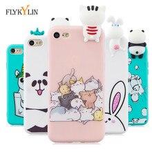 Funda FLYKYLIN 3D DIY para iphone 7 8 Plus X XR XS 11 Pro Max 5S SE 5 6 6S Cubierta Linda dibujos animados juguetes 3D fundas de teléfono de silicona TPU suave