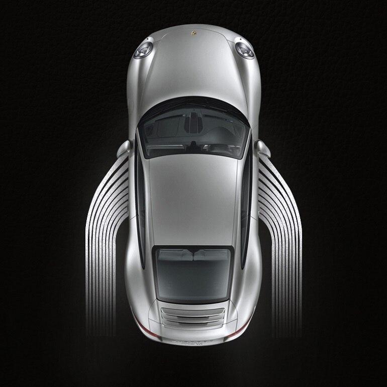 Alas de Ángel universales, luces de bienvenida para coche, proyector de puerta, luz de sombra de fantasma, charco de 12V-24V para BENZ, AUDI, BMW, VW, ETC.