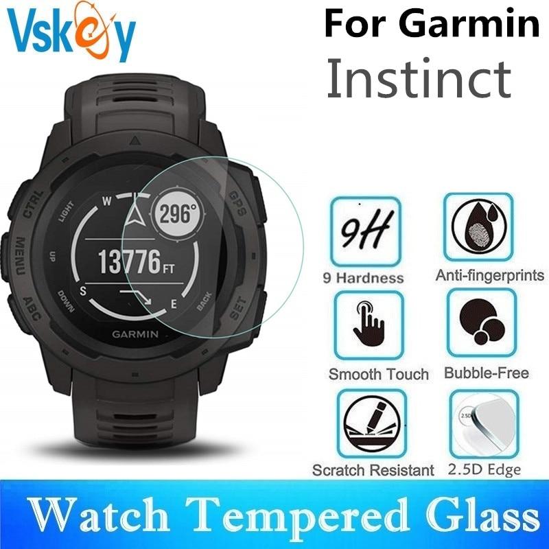 VSKEY 20 PCS Protetor de Tela de Vidro Temperado Para Garmin Instinto Rodada SmartWatch Relógio Do Esporte Protective Film 31.5 milímetros de Diâmetro