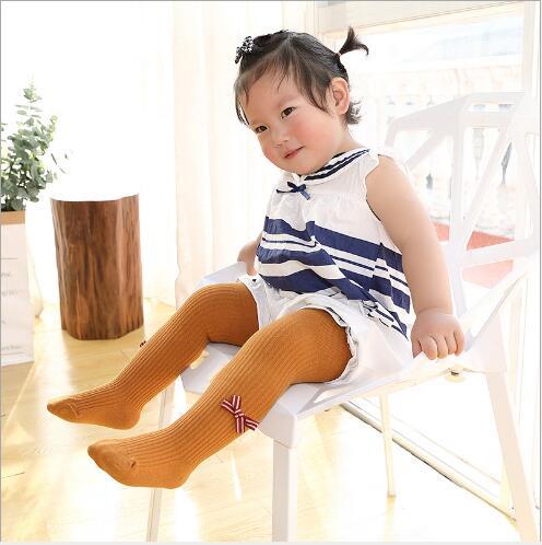2019 primavera nuevas pantimedias para niños niñas bebé adorable dulce moño leggings