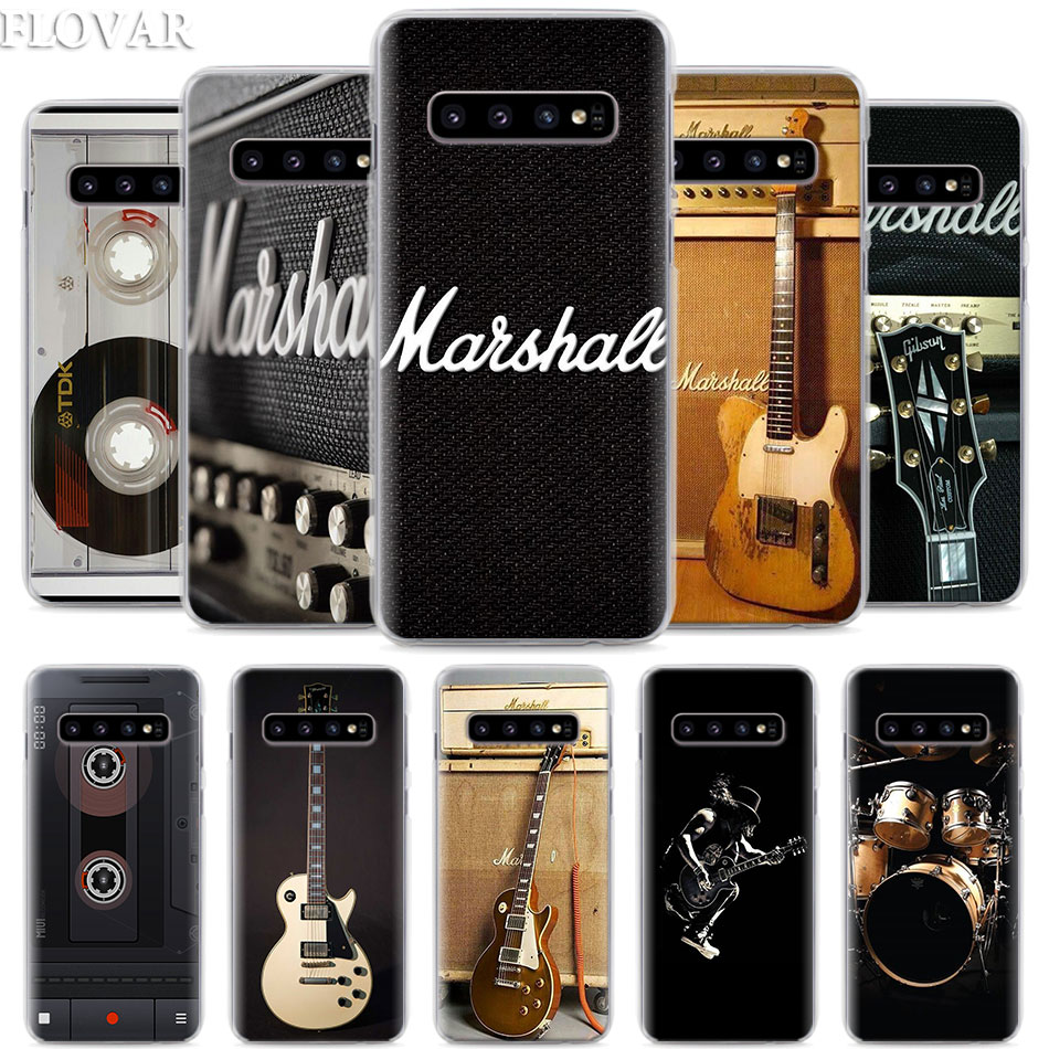 Чехол для телефона с гитарным усилителем marshall для Samsung Galaxy S10e S10 Plus S7 S8 S9 Plus Note 8 9 10 Plus S10 5G M20 M30