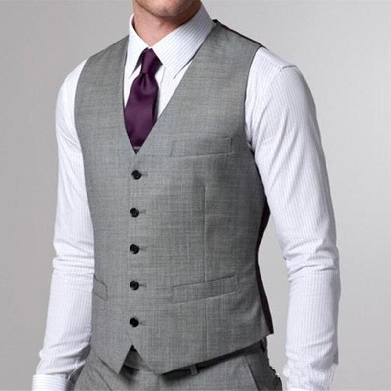 Серый свадебный жилет для жениха на заказ, мужской жилет для жениха, Официальный Мужской костюм, жилет, дешевая свадебная одежда