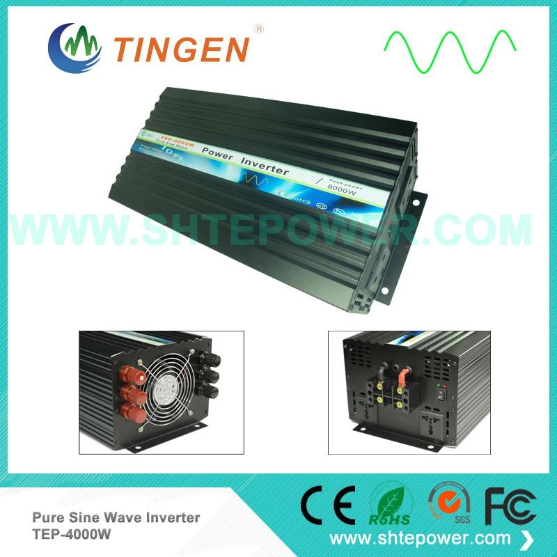 48 v 4000 w inversor de potência dc entrada 12 v 24 v escolhas para saída ac onda senoidal pura 50 hz/60 hz TEP-4000W fora da energia do sistema do laço da grade